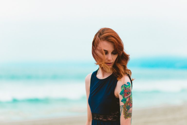 Model with Tattoo
